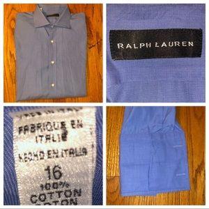 Ralph Lauren Black Label French Cuff Shirt Sz 16